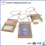Custom Travel Document Holder Passport Organizer Leather Neck Travel Wallet                                                                         Quality Choice