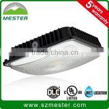0-10v Dimmable led canopy DLC UL listed, low profile design for parking garage, optional for motion sensor