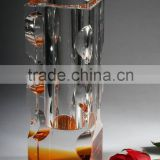 Fashion elegant crystal flower vase, crystal wedding centerpiece vase, crystal vase CV-1065