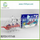 Metal intelligent learning toys building blocks boat