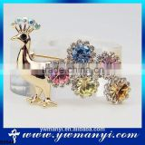 Hot sale high quality silver jewelry woman accessorize gemstone brooch peacock brooch B0044