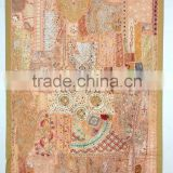 Vintage Sari Patchwork Tapestry curtains, Indian Patchwork curtain WallHanging ,Sari Patchwork Curtain