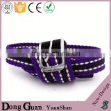 2016 hot sale colored fashion canvas belt straps double d ring braided belts classical