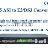 GASI045 ASI to E3/DS3 CATV Digital Headend Converter/ASI to E3/DS3 adapter,