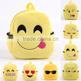 OEM factory custom Plush Emoji school bag