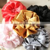 Silk large Korean fabric flower,soft craft flowers accessoires wholesale                                                                         Quality Choice