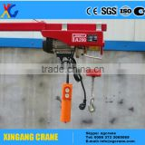 Best selling pa500 pa1000 100kg small mini wire rope electric hoist CE standard winch mini electric hoist