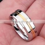 Stainless Steel Finger Ring, 316L Stainless Steel, plated different size for choice two tone for man