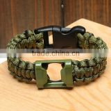 new style paracord survival bracelet bottle opener and fire starter