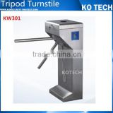 KO-KW301 laser trip turnstile gate with two side card reading window and two side pass way
