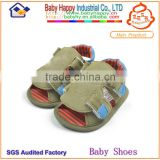 New design wholesale soft sole boy army green import baby shoes