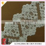 HC-2256-1 Hechun Latest Style Bead Scalloped Ivory Lace Bridal Trim                                                                         Quality Choice