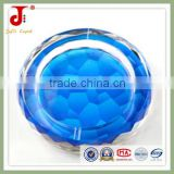 Hot Sale Blue And Red Water Cube Crystal Ashtray For Business Souvenirs                                                                         Quality Choice