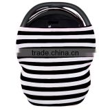 Top Quality Summer Used Customized Black White Stripe Design Baby Car Seat Blanket