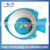 custom cartoon Kids fish shape Plastic Melamine serving baby bowl