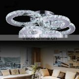 High Power Stainless Steel Luxury Crystal Ceiling Lights 6 Lights 230V LED Ceiling Lamps