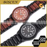 2016 Boscen Wholesale Top Grade Custom Color Brand Japan Movement Luxury Wooden Wood Watches