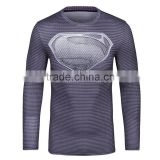 2016 New Product Superhero T-shirt Avengers Marvel Superman Long Sleeve Compression Tight Shirt