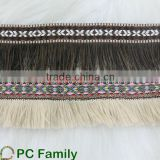Factory direct sale fringed jacquard ribbon                                                                         Quality Choice