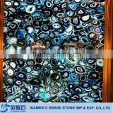 Custom all kinds of agate stone onyx tile natural blue onyx slab price                                                                                         Most Popular