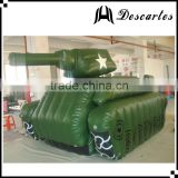 Oxford cloth giant inflatable military tank, promotional inflatable army tank for sale