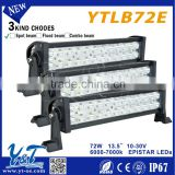 muti-volt 72w good quality off road light bar driving roof rack light led auto or car led light bar