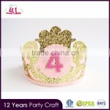 2016 Kids Supplies Birthday Party Crown Favors