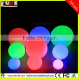 outdoor christmas led light ball/floating PE plastic ball with battery operated