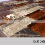 strip glass mosaic tile, natural stone glass mosaic backsplash