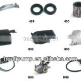 Oil seal, Muffler, Easy starter, Frame rear, Ignitor, Carburetor, Spare parts for generator HL-950A