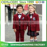 Manufacture England Style Kindergarten school uniform primary school uniform designs OEM