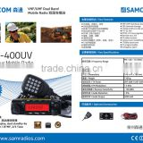 2015 HOT selling 50W/40W output Dual band mobile base radio SAMCOM AM-400UV with dual display,dual standby,FCC approval