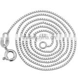2016 Gets.com 925 sterling silver .8mm box chain -necklace
