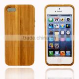 OEM Carbonized Bamboo Wood Cell Case for Iphone cover for iphone 5 two parts with press key