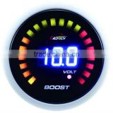 52mm blue LED digital boost gauge for tuning with 28 LCD/52mm digital turbo gauge