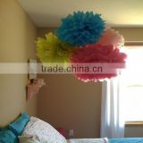 "20cm 8"" Fiesta Tissue Paper Pom-Poms Wedding Decoration Car Flower with factory price"