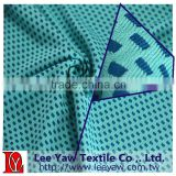 100% polyeater 2 tone mesh jersey fabric with 4 way stretchable, cotton feel and wicking