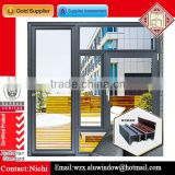 French two colors aluminium frame casement door and window