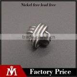 Best quality latest DIY stainless steel metal bead craft with silver vintage charm for jewelry making