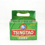 custom cardboard 6 pack bottle beer carriers Tsingtao beer holder