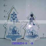 porcelain blue fluted pattern-home hanging deco-ceramic crafts
