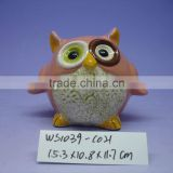 Good Quality ceramic Owl Money Bank for Kid