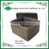 Straw woven decorative box with lid