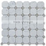MM-CV319 Top quality modern home design natural stone octagon kitchen backsplash tile marble mosaics