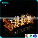 Pop acrylic glass cup rack lucite bullet cup displays gold acrylic holder bullets cup stand