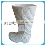 Shoe shaped ceramic home decoration vase