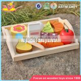 wholesale preschool food set toys wooden kids play food new design wooden kids play food W10B184