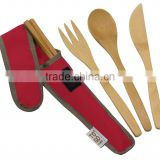 Customized Ware Utensil Set with Carrying Case/travel,camping giftware