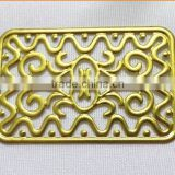 hollow rectangle flower garment accessories brass flower shoe bag accessories fashion jewelry accessories