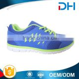 EVA insole blue elegant breathable mens shoe styles with green decoration